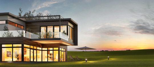 Maison au toit plat