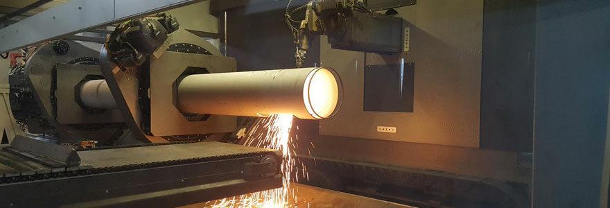 découpe laser tube grandes sections